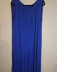 Cobalt Blue Off Shoulder Romper w/ Pockets